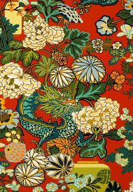 Schumacher: Chiang Mai Dragon Wallcovering 5001061 Lacquer