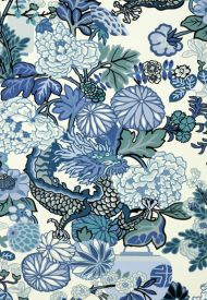 Schumacher: Chiang Mai Dragon Wallcovering 5001062 China Blue