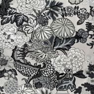 Schumacher: Chiang Mai Dragon Wallcovering 5001066 Smoke