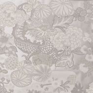 Schumacher: Chiang Mai Dragon Wallcovering 5001068 Limestone