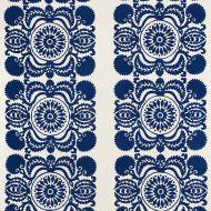 Schumacher: Castanet Embroidery 70260 Cobalt