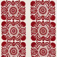 Schumacher: Castanet Embroidery 70261 Red