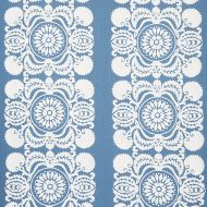 Schumacher: Castanet Embroidery 70262 Chambray
