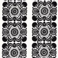 Schumacher: Castanet Embroidery 70263 Black