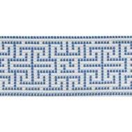 Schumacher: Maze Tape Indoor/Outdoor 75950 Blue