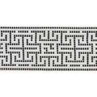 Schumacher: Maze Tape Indoor/Outdoor 75952 Black