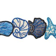 Schumacher: Sea Treasures Tape 77260 Blue