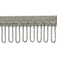 "Highland Court: Sherman Oaks Trimmings 1 3/4"" Fringe Looped Silver 78081H-248"