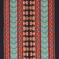 Schumacher: Vinka Embroidery 79621 Red & Black