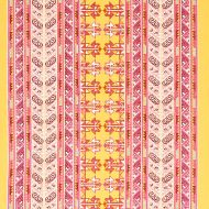 Schumacher: Vinka Embroidery 79622 Pink & Yellow