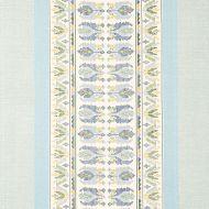Schumacher: Sandor Stripe Embroidery 79830 Chambray