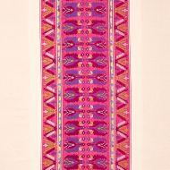 Schumacher: Sandor Stripe Embroidery 79831 Magenta