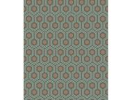 Cole & Son WP: Contemporary Restyled Hicks' Hexagon 95/3018.CS.0 Teal/Gold