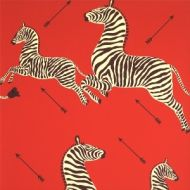 Scalamandre: Zebras Wallpaper SC 0001 WP81388M Masai Red