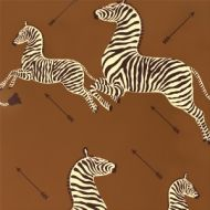 Scalamandre: Zebras Wallpaper SC 0003 WP81388M Safari Brown