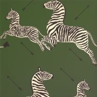 Scalamandre: Zebras Wallpaper SC 0004 WP81388M Serengeti Green