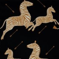 Scalamandre: Zebras Wallpaper WP81388M-005 Black