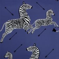 Scalamandre: Zebras Wallpaper SC 0008 WP81388M Denim