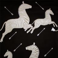 Scalamandre: Zebras Wallpaper SC 0009 WP81388M Black & Silver
