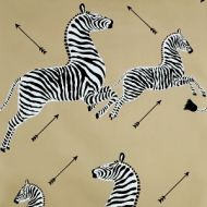 Scalamandre: Zebras Wallpaper WP81388M-011 Gold