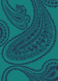 Cole & Son for Lee Jofa: Rajapur F111/10036.CS.0 Ink on Petrol