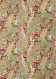 Mulberry Home: Game Birds Linen FD269.K102.0 Stone Multi