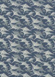 Mulberry Home: Wild Geese Linen FD287.H10.0 Indigo