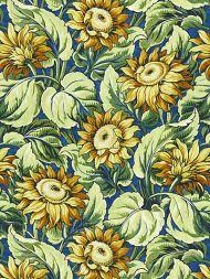 Grey Watkins for Scalamandre: Sunflower Print GW 0002 16631 Cobalt