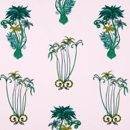 Clarke & Clarke: JUNGLE PALMS PRINT F1110-4 Pink