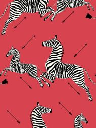 Scalamandre: Zebras Vinyl Wallpaper SC 0001 WP81388MV Masai Red