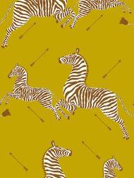Scalamandre: Zebras Vinyl Wallpaper SC 0002 WP81388MV Zanzibar Gold