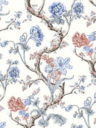 Scalamandre: Andrew Jackson Floral SC 0002 WP88432 Riviera