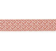 Scalamandre: Labyrinth Embroidered Tape SC 0003T3319  Coral