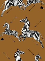 Scalamandre: Zebras Vinyl Wallpaper SC 0003 WP81388MV Safari Brown