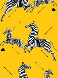 Scalamandre: Zebras Vinyl Wallpaper SC 0006 WP81388MV Yellow