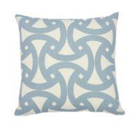 "Schumacher: Santorini Print I/O 18"" Pillow SO17430404 Sky"