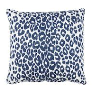 "Schumacher: Iconic Leopard 22"" Pillow SO17572006 Ink"