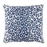 "Schumacher: Iconic Leopard 22"" Pillow SO17572006 Ink"
