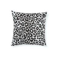 "Schumacher: Iconic Leopard 18"" I/O Pillow SO17732404 Graphite"