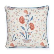 "Schumacher: Khilana Floral 20"" Pillow SO17833005 Delft & Rose"