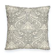 "Schumacher: Hendrix Embroidery 18"" Pillow SO7616204 Black"