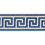 Scalamandre: Greek Key Velvet Tape T3279-005 Indigo
