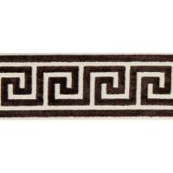 Scalamandre: Greek Key Velvet Tape T3279-006 Espresso