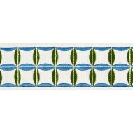 Scalamandre: Fiori Embroidered Tape T3288-005 Peacock