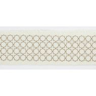 Scalamandre: Seville Embroidered Tape T3289-001 Ivory