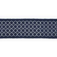 Scalamandre: Seville Embroidered Tape T3289-005 Indigo
