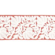 Scalamandre: Coventry Embroidered Tape T3296-004 Coral