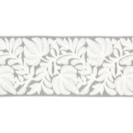 Scalamandre: Coventry Embroidered Tape SC 0005 T3296 French Grey