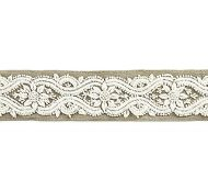Scalamandre: LINNEA EMBROIDERED TAPE: T3298-001 Natural