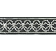 Scalamandre: Athena Embroidered Tape: T3305-004 Charcoal